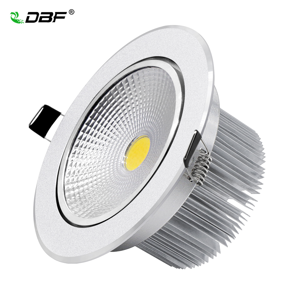 [DBF]Angle Adjustable Silver Body Dimmable LED Recessed Ceiling Downlight 7W 9W 12W 15W 18W With AC85-265V LED Driver Spot Lamp
