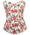 Hot Sale Flower Print Corset Top and Bustier 4 Colors Corsets for women 663 Sexy Plus Size  waist trainer
