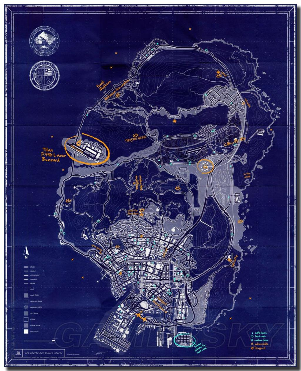 gta sa map compared to gta v » Path Decorations Pictures | Full Path ...