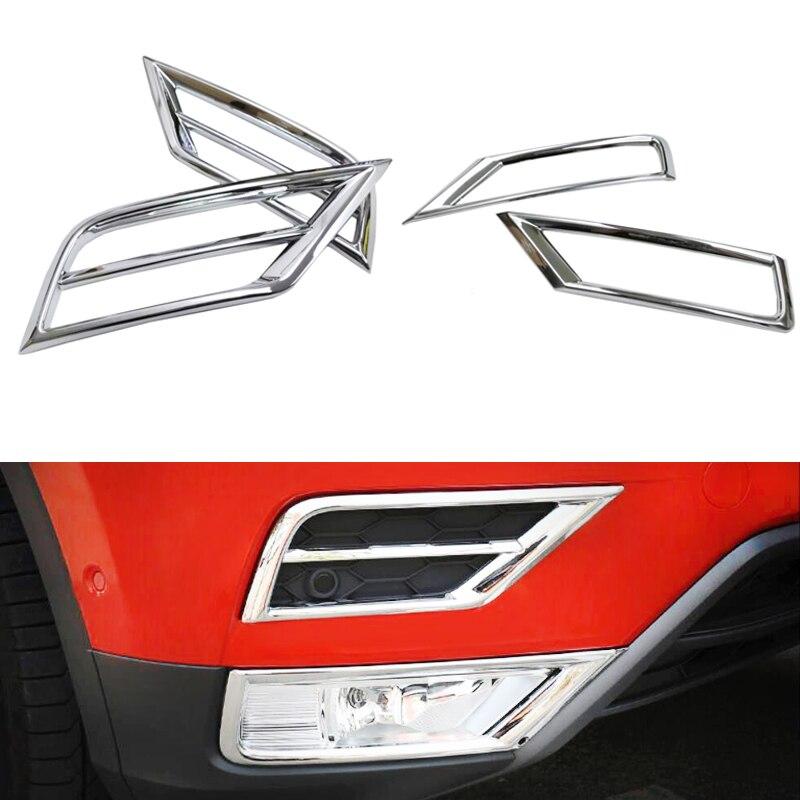 ABS Matte Front Lower Upper Foglight Fog Light Lamp Cover Trim For Volkswagen VW Tiguan 2017