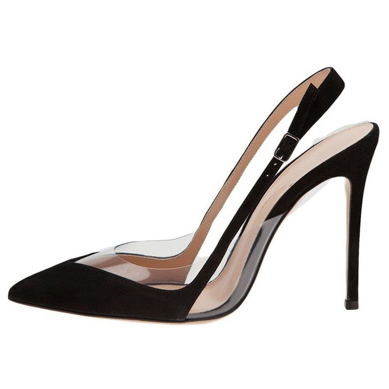 Dress Sling Back-Shoes High-Heel Party Woman INS Suede New-Arrive