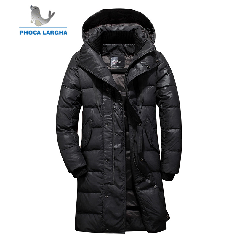 New Brand Men's Winter Down Jackets Men Camouflage Thick Warm Long Down Coat Hooded Casual Fashion Feather Down Jacket Male