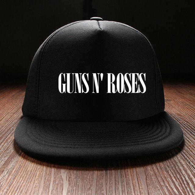 Nuevo 2016 Unisex del Verano Mujeres Snapback Viseras Personalizadas Guns N  rosa Banda de Rock Hombres dad04956e31