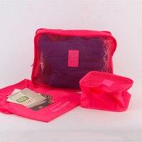 6pcs Set Portable Waterproof Travel Bag Tote Luggage Clothing Tidy Bag Organizer Case Baggage Sorting High