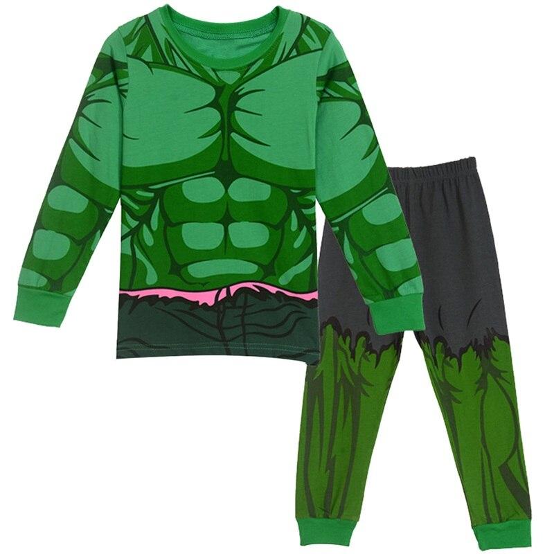 2-8Y Bambini Boy Superhero Hulk Spiderman Iron Man Pigiami Vestiti Da Notte Set Bambino Cartone Animato Pigiama Bambini Capodanno Pigiama