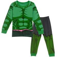 2-8Y Kids Boy Superhero Hulk Spiderman Iron Man Pajamas Sleepwear Clothes Set Child Cartoon Pijamas Children New Year Pyjamas