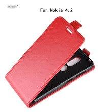 Чехол HUDOSSEN для Nokia 4,2, роскошный Флип кожаный чехол, аксессуары для мобильного телефона, чехлы для Nokia 4,2 TA-1157 TA-1150, чехол