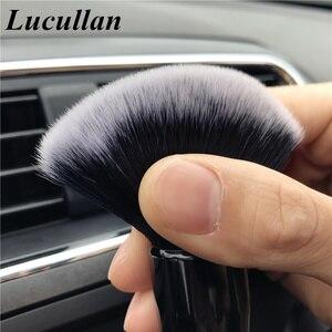 Image 5 - Lucullan 20CM להאריך גרסה סופר רך לבן שיער ניקוי מברשת פנים אלקטרוסטטי אבק להסיר כלים לפרטים מפעל
