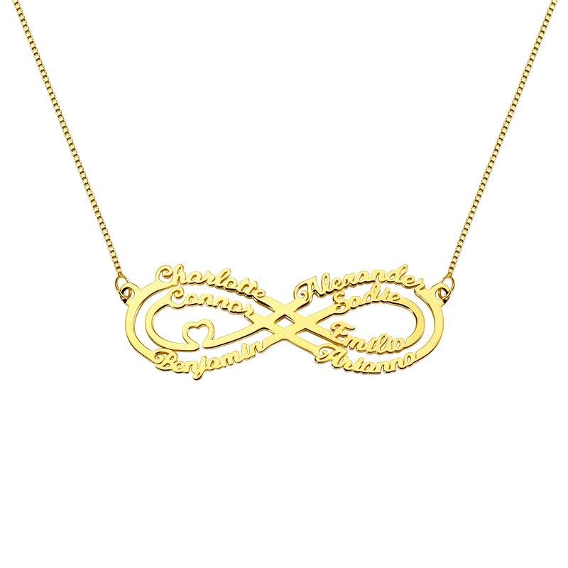 AILIN nom personnalisé famille collier personnalisé Infinity pendentif collier 7 nom bijoux meilleur cadeau