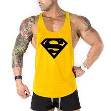 3bbc84bdecd2c New Arrivals Bodybuilding stringer tank top Superman Gyms sleeveless t shirt  men Fitness Vest Singlet sportswear workout tanktop