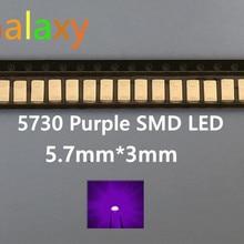 5630/5730 SMD/SMT УФ/фиолетовый цвет SMD SMT 5730 чип со светодиодной подсветкой-(1,8~ 3,4 в/) 385-415NM/100 шт