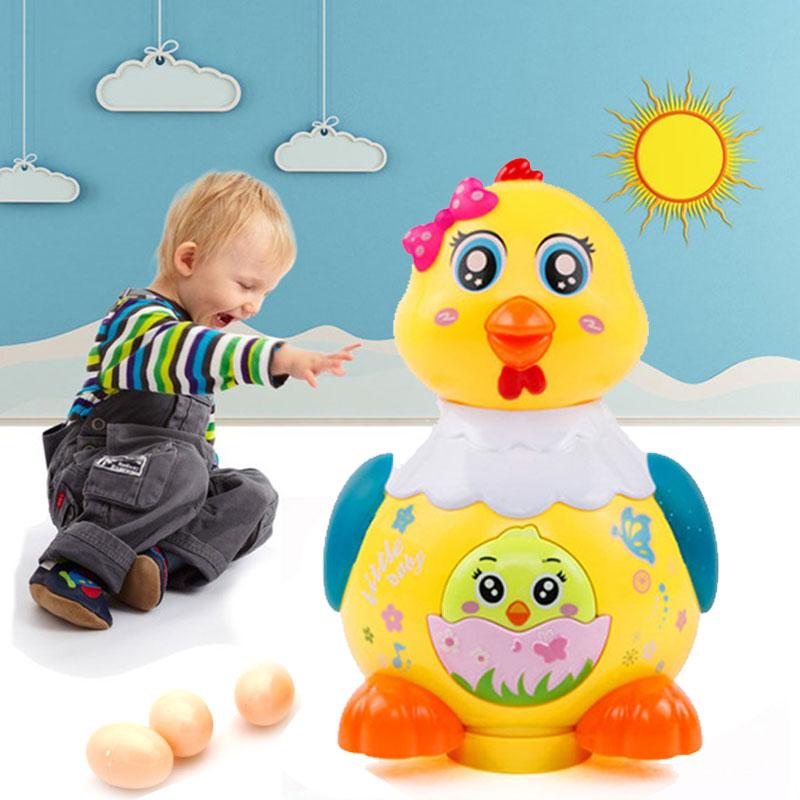 Electric Chicken Toy Intelligent Doy Laying Hens Imitation Chicken Toy Plastic Emulational Led Intelligent Interesting