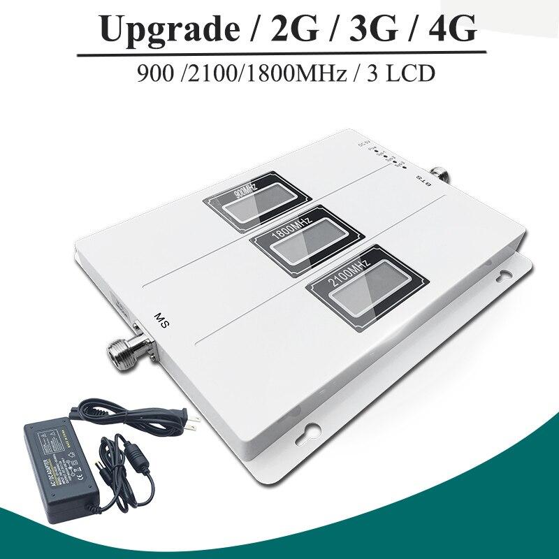 Lintratek ALC GSM 900 3G 2100 LTE 1800 amplificateur de Signal cellulaire répéteur à trois bandes LCD affichage téléphone Mobile 4G amplificateur S8
