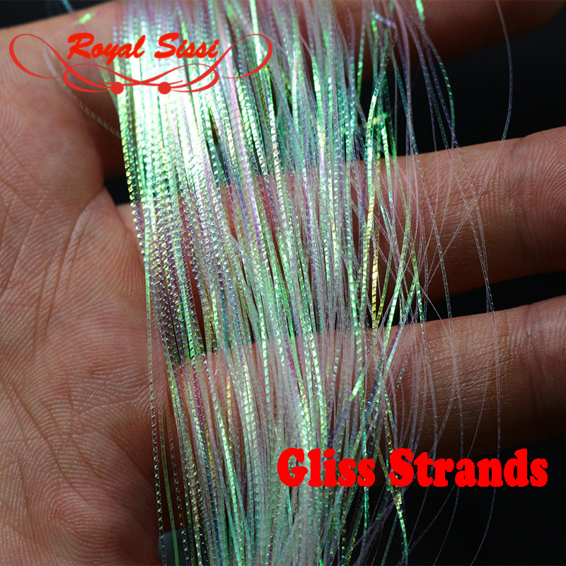 2packs Royal Sissi Gliss' N Glow corrugated flash strands fly fishing baitfish decorative tying material simulates fish scales 5sheets pack 10cm x 5cm holographic adhesive film fly tying laser rainbow materials sticker film flash tape for fly lure fishing