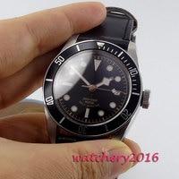 Nova chegada 41mm corgeut mostrador preto safira marca de luxo super luminoso miyota movimento automático relógios masculinos