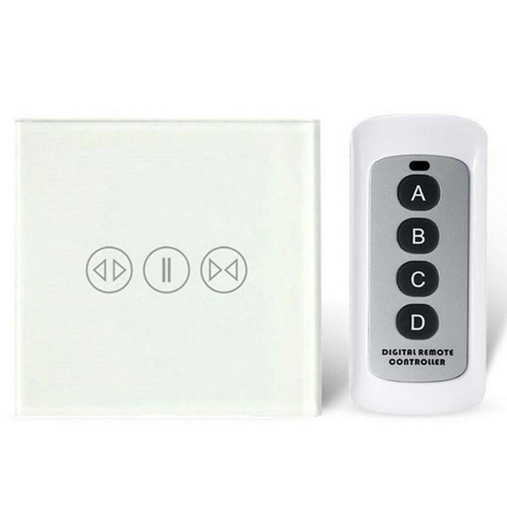 433Mhz Smart Curtain Switch with Remote Control Electric Curtain Touch Switch White diamond 200 electric white curtain electric curtain projection screen hd