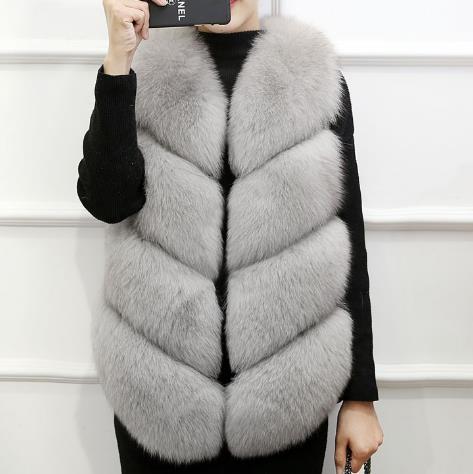 En 2019 Z116 Gilets Veste Femmes Grande Gilet Clobee Vestes D'hiver Manteau Taille Femme Fourrure De Chaud Faux Artificielle SqTzTvdw