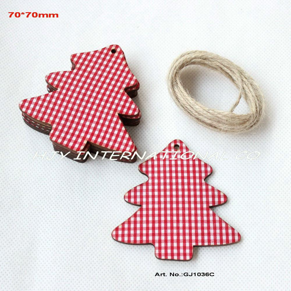 Snowflake christmas ornaments bulk - Bulk 30pcs Lot 70mm Fabric Topper Wood Back Christmas Tree Large Tags Large