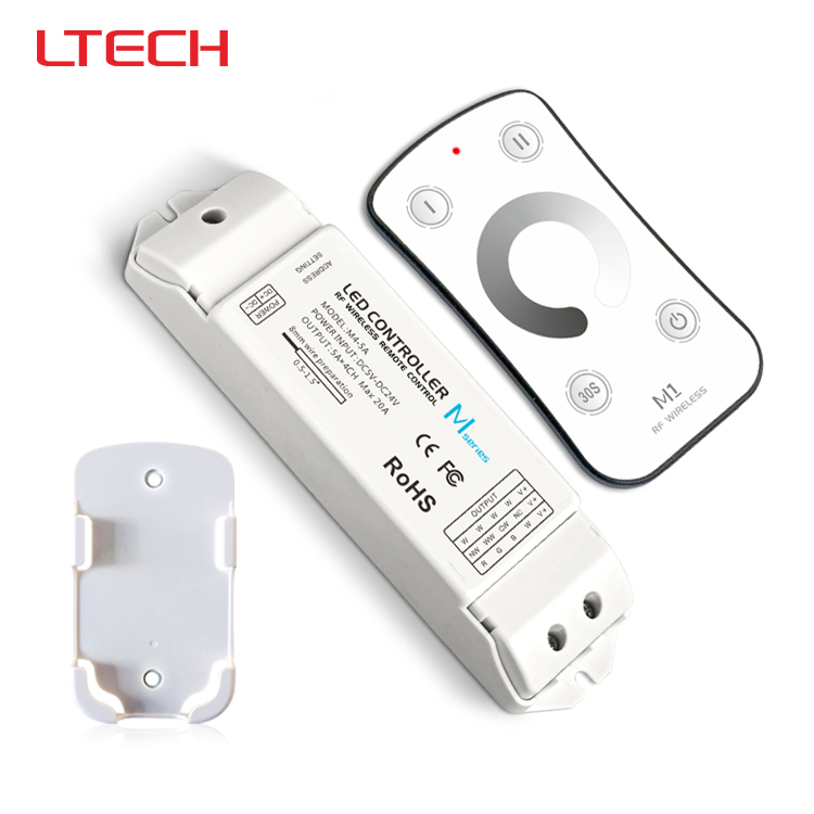 M1+M4-5A,M1 touch rf remote with M4-5A CV receiver led dimmer controller,DC5V-DC24V input,5A*4CH max 20A output m3 m4 5a m3 touch rf remote with m4 5a cv receiver led dimmer controller dc5v dc24v input 5a 4ch max 20a output