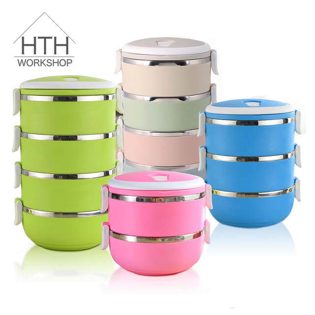 Disposable School Stainless Steel Plastic Thermo Fitness Lunch Box Food Containers With Bag For Kid Children