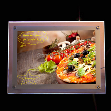 Acrylic Frame Led Illuminated Pizza Menu Poster Display Light Boxes Signs 600mmx700mm