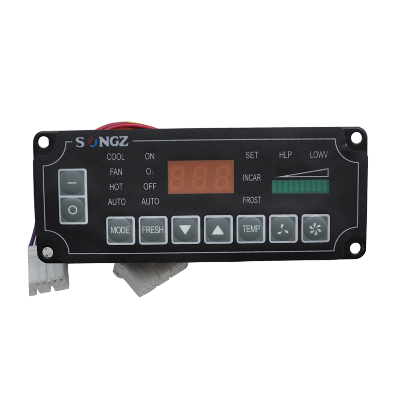 ФОТО 24V Auto Bus A/C Aircon Air Conditioning  Button Style Climate Control Panel 5000364 for SONGZ English Conditioner Panel