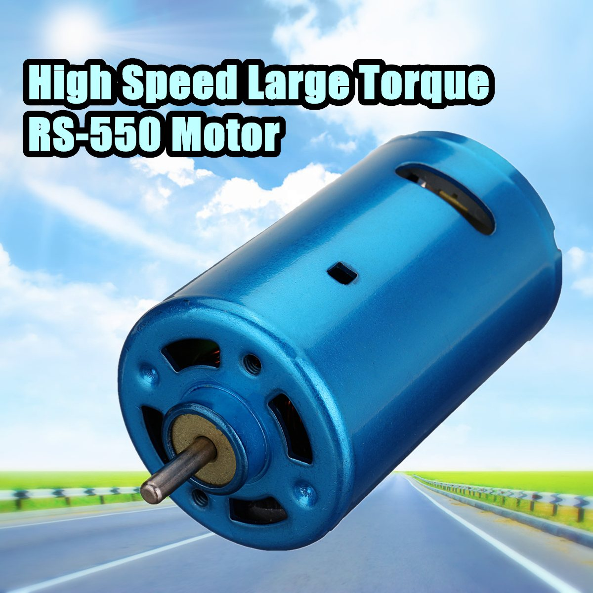 1pc Blue RS-550 DC Motor 12V 24V 10000-30000RPM High Speed Large Torque RC Car Boat Model free shipping 775 motor with bearing d shaped shaft 12v 24v high speed motor spare parts for diy rc car boat model