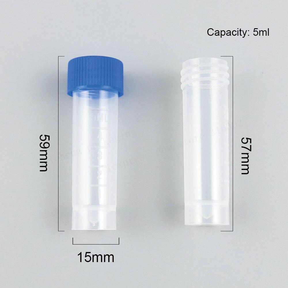 100X5 мл химия пластиковые пробирки флаконы закрывающие колпачки емкость для жидкостей для офиса школы химия поставки