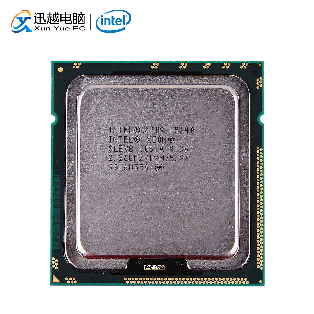 Intel Xeon <font><b>L5640</b></font> Desktop Processor Six-Core 2.26GHz L3 Cache 12MB 5.86 GT/s QPI LGA 1366 SLBV8 5640 Server Used CPU image