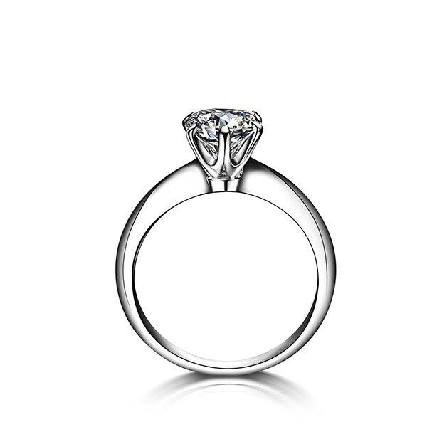 CHEESTAR GEMS 18k Yellow Gold Ring Women 6mm Wedding Ring Moissanites Jewelry