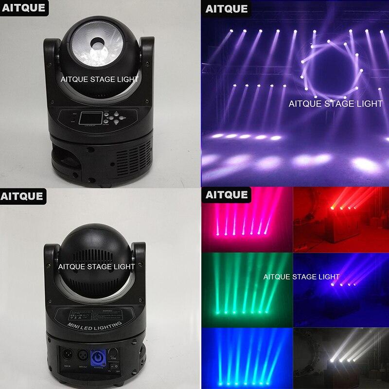 12 Лот сценического оборудования Лира мини головка перемещения луча 60 Вт led moving головной свет dmx 60 Вт
