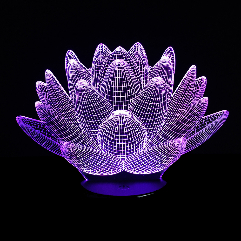 3d optical illusion 7 color lotus flower touch switch led desk table 3d optical illusion 7 color lotus flower touch switch led desk table light lamp 3d led night light in night lights from lights lighting on aliexpress izmirmasajfo