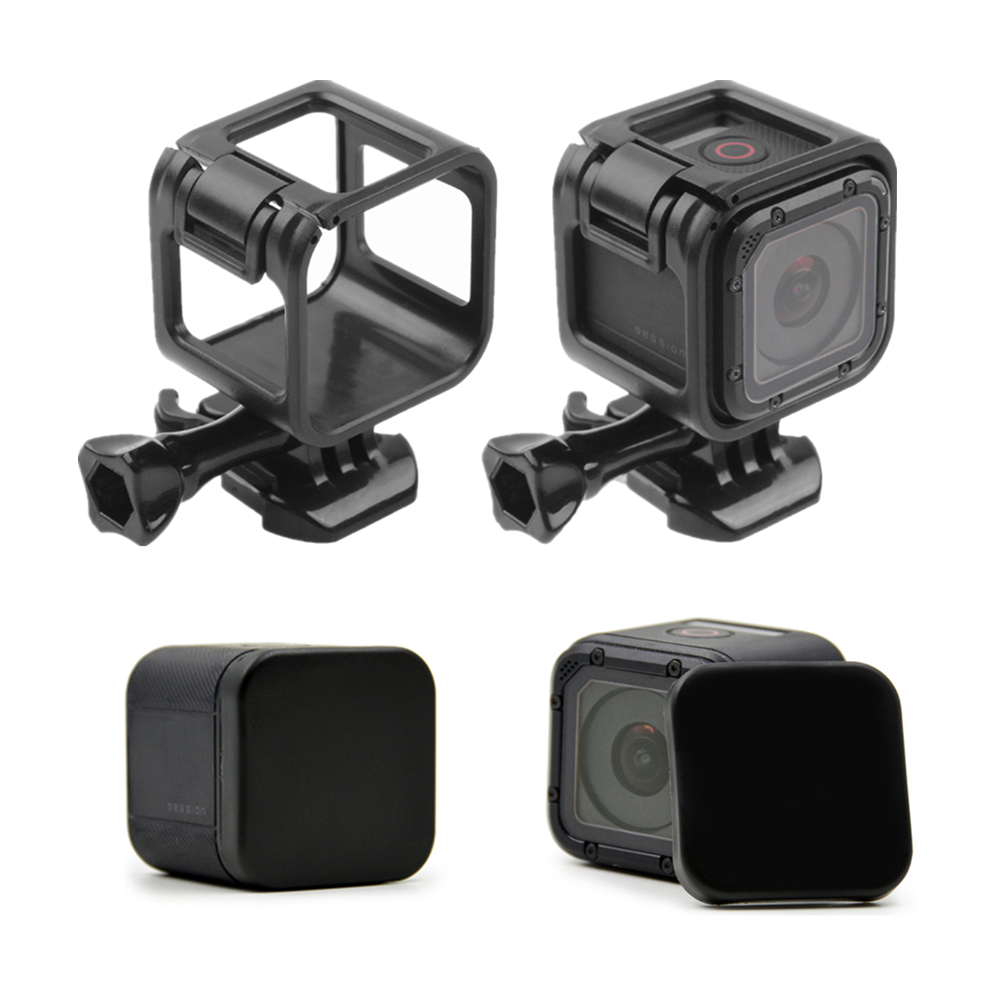 For Go Pro Hero 4/5 Session 5S 4S Lens Cap Cover Housing Case & Standard Frame Case Mount Protective Shell Cover
