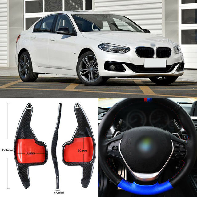 $ 99.63 Carbon Fiber Gear DSG Steering Wheel Paddle Shifter Cover Fit For BMW 1 Series 2017-2018