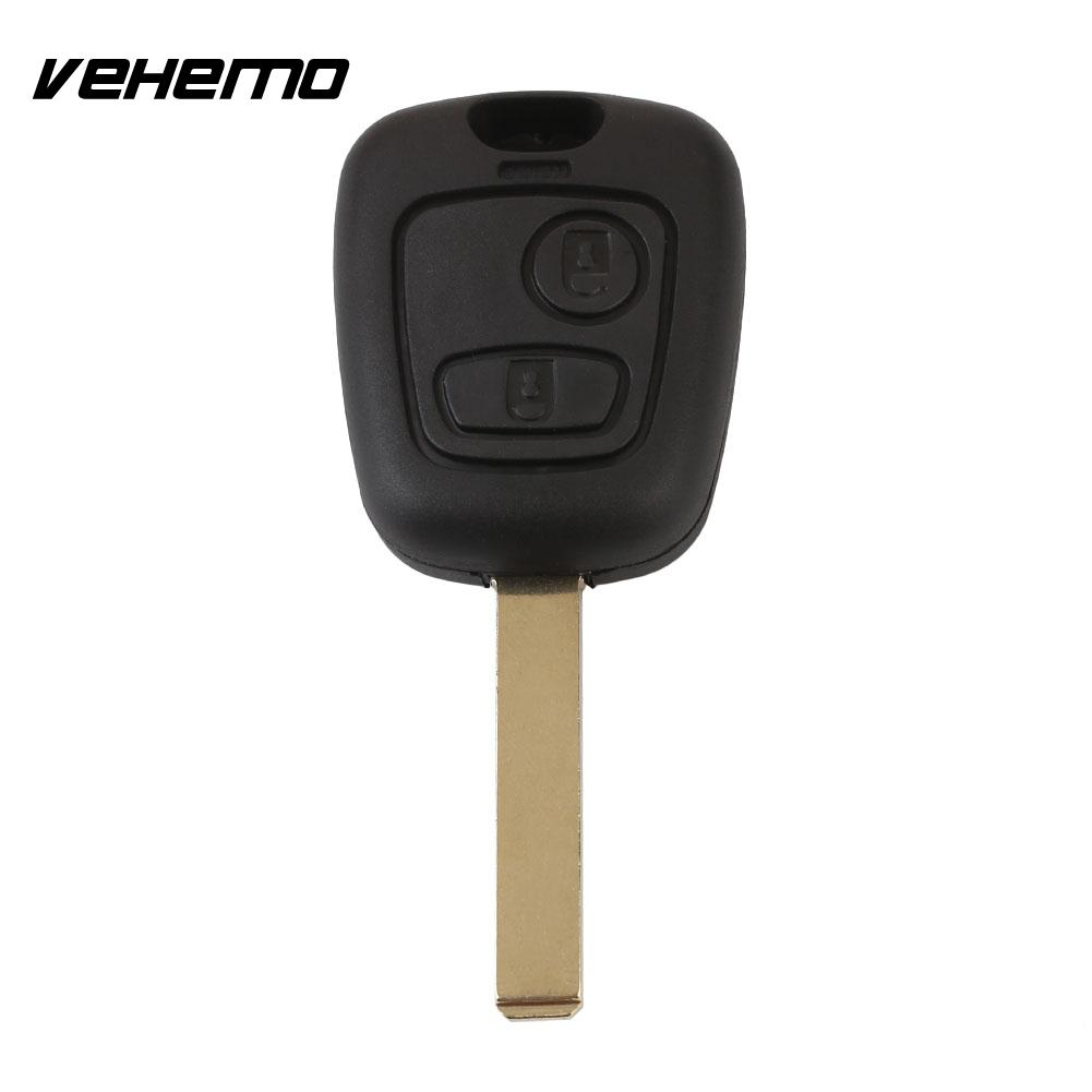 Замена ключа дистанционного управления автомобиля брелоки 2 кнопки Авто Корпус Замена с лезвием черный для Toyota AYGO