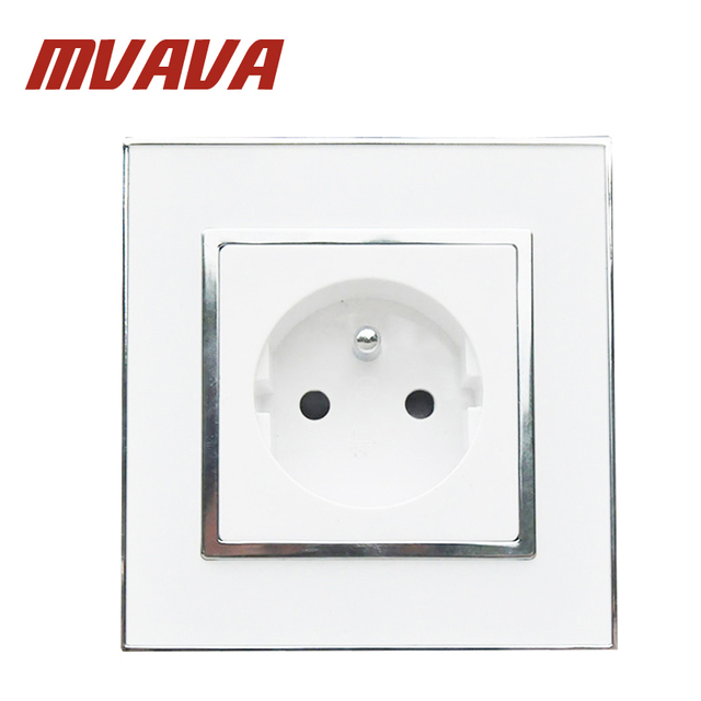 MVAVA French Standard Wall Power Socket Electrical Plug Outlet AC ...