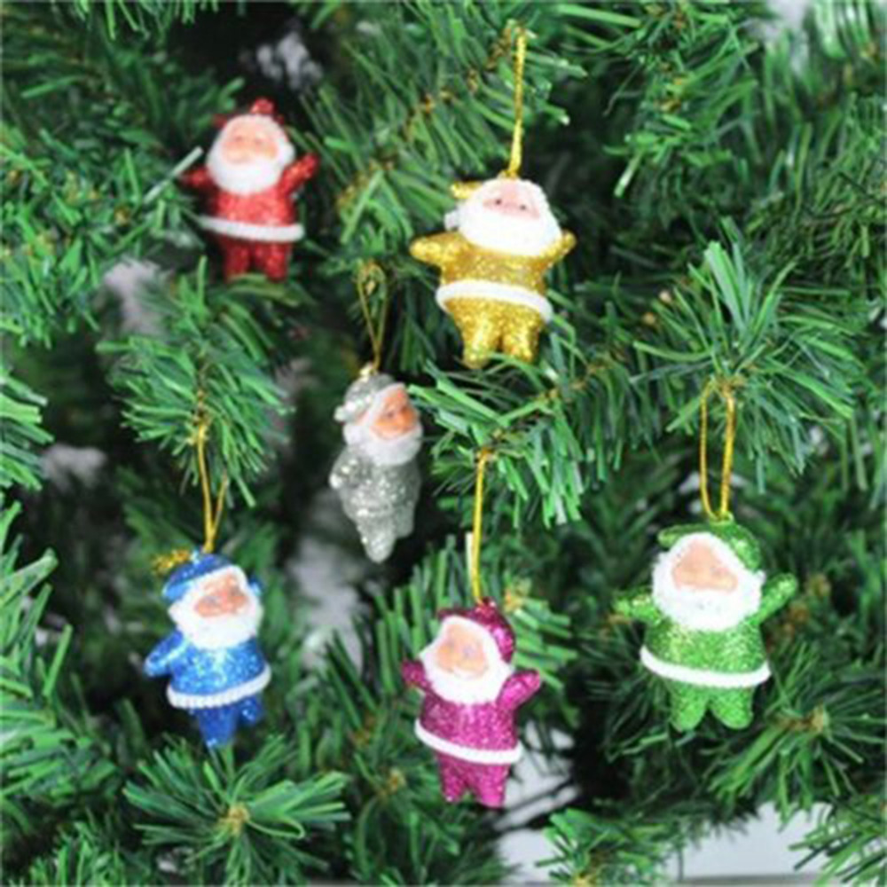6PCS Lovely Mini Colorful New Year Christmas Decoration Indoor ...