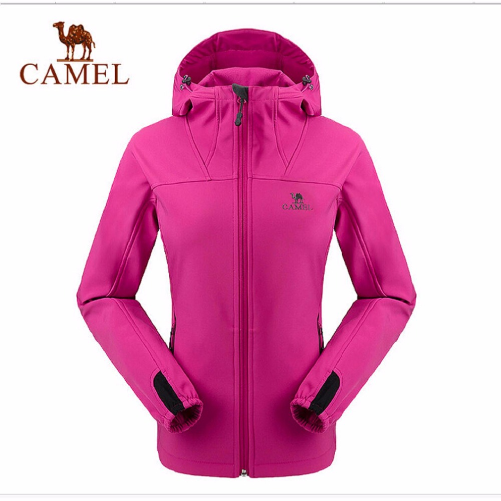Camel women soft shell 2016 outdoor camping hiking jackets windproof thermal outdoor jacket A6W114134 camel outdoor men s soft shell jacket windproof warm climbing camping travel jungle off road softshell a6w2t7103