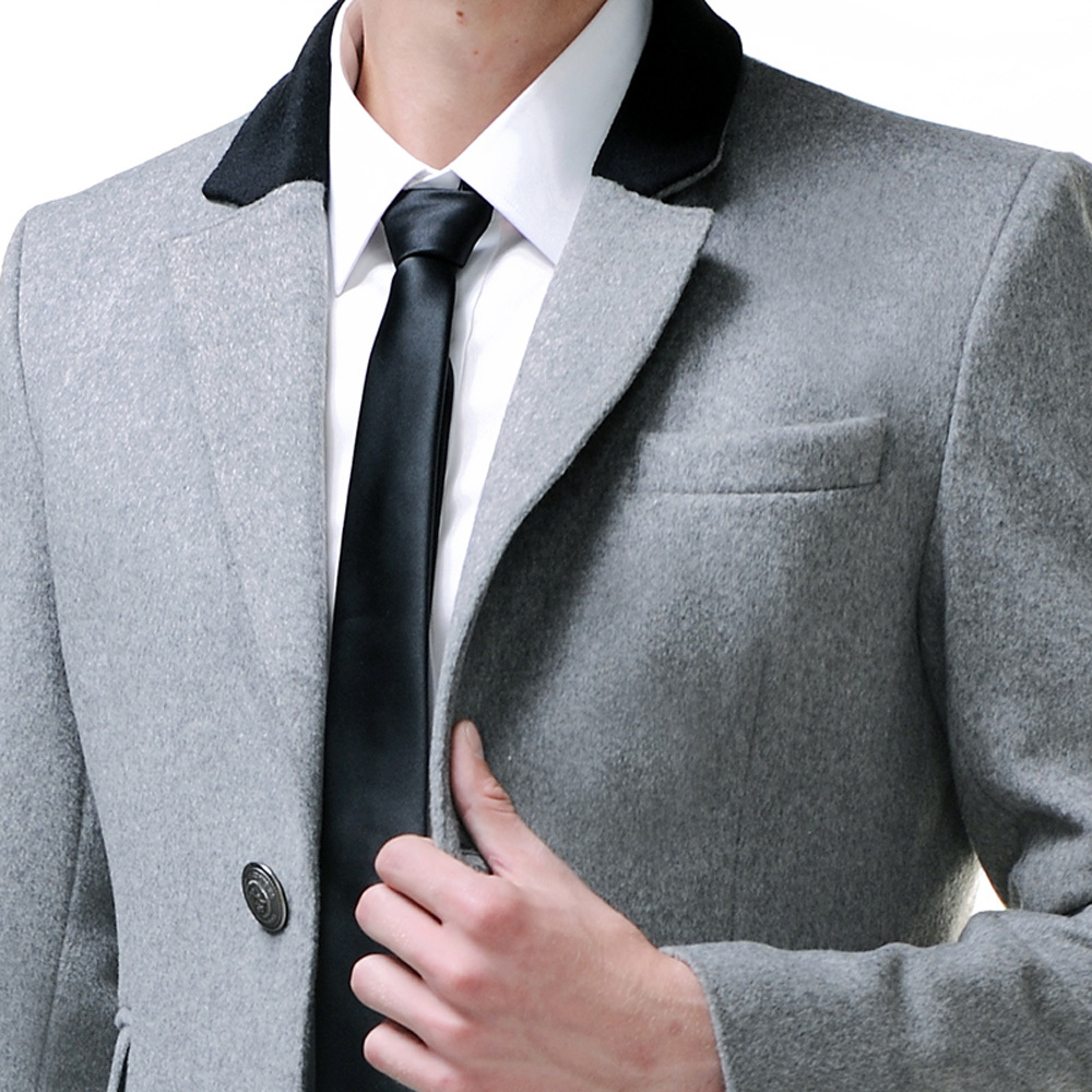 4f3684b2815f48 URSMART British style single breasted wool coat men's business casual men's  light gray coat jacket-in Wool & Blends from Men's Clothing on  Aliexpress.com ...