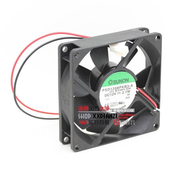 PSD1208PKB3-A 8025 2.7 W 8 CM 12 V dupla bola ventilador de refrigeração