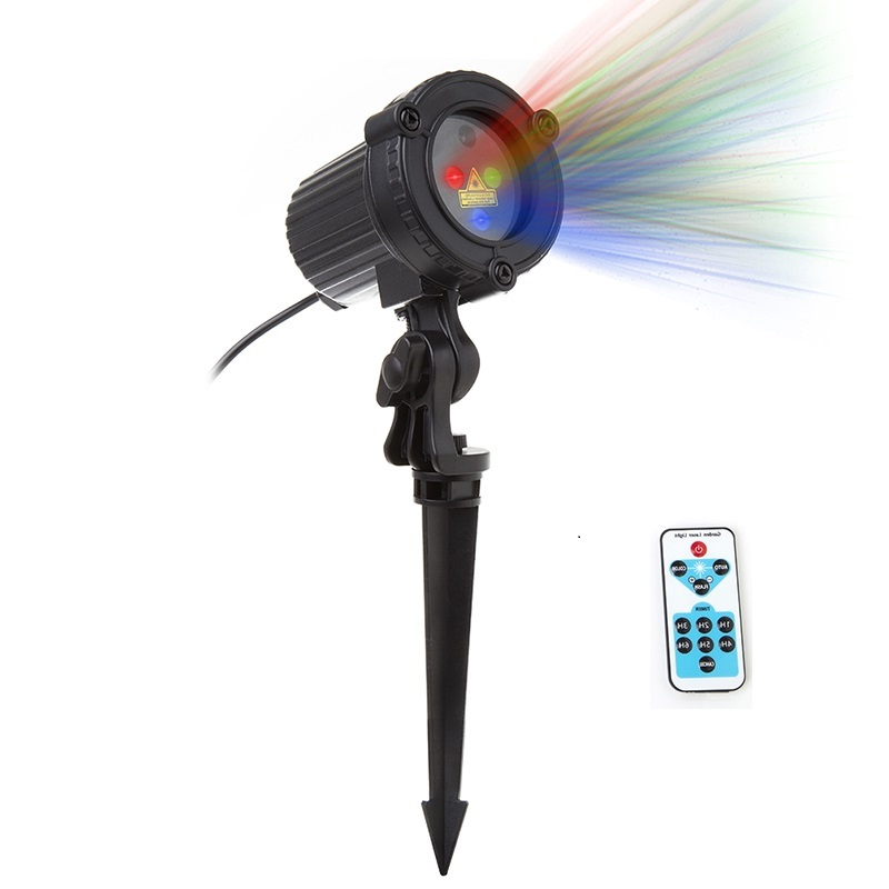 RGB Stars Laser Christmas lights Projector Remote showers Garden Outdoor Waterproof IP65 Tree Xmas Holiday Lawn lamps Decoration