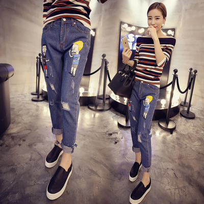 Nine Haren jeans pants loose pants new Korean radish female students all-match summer 2017 spring tide