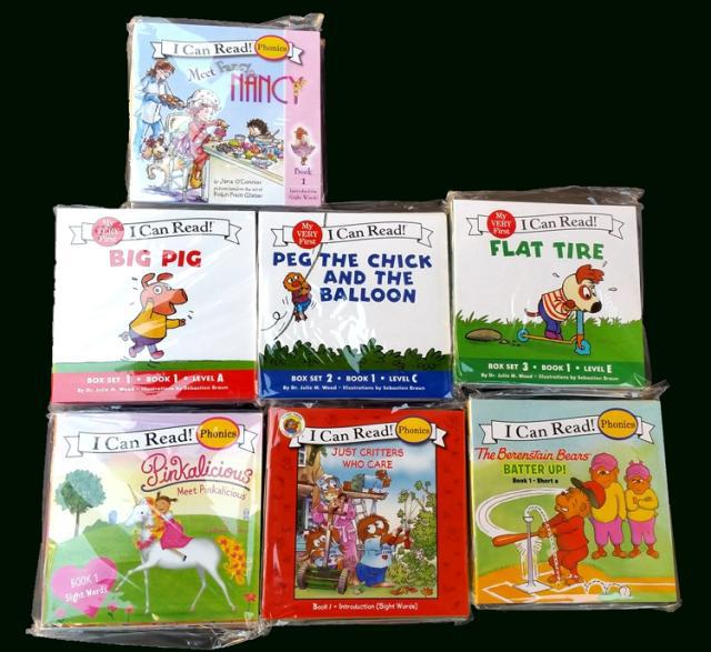 Educational Children English Card Book I can read 7set 84pcs phonics Reading Pocket Story Books berenstain