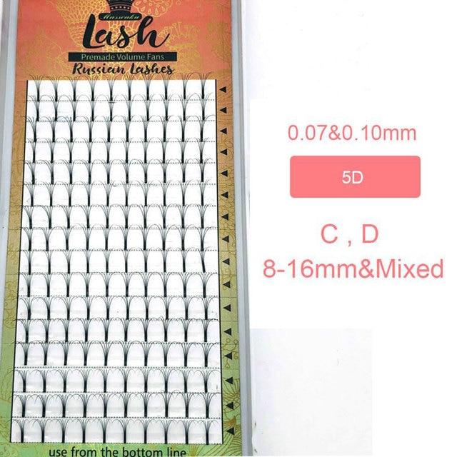 MAS Lashes 16 Lines Premade Volume Fans 3d/4d/5d/6d Lash Russian Volume Eyelash Extensions Pre made Lash Extension Faux Mink 4