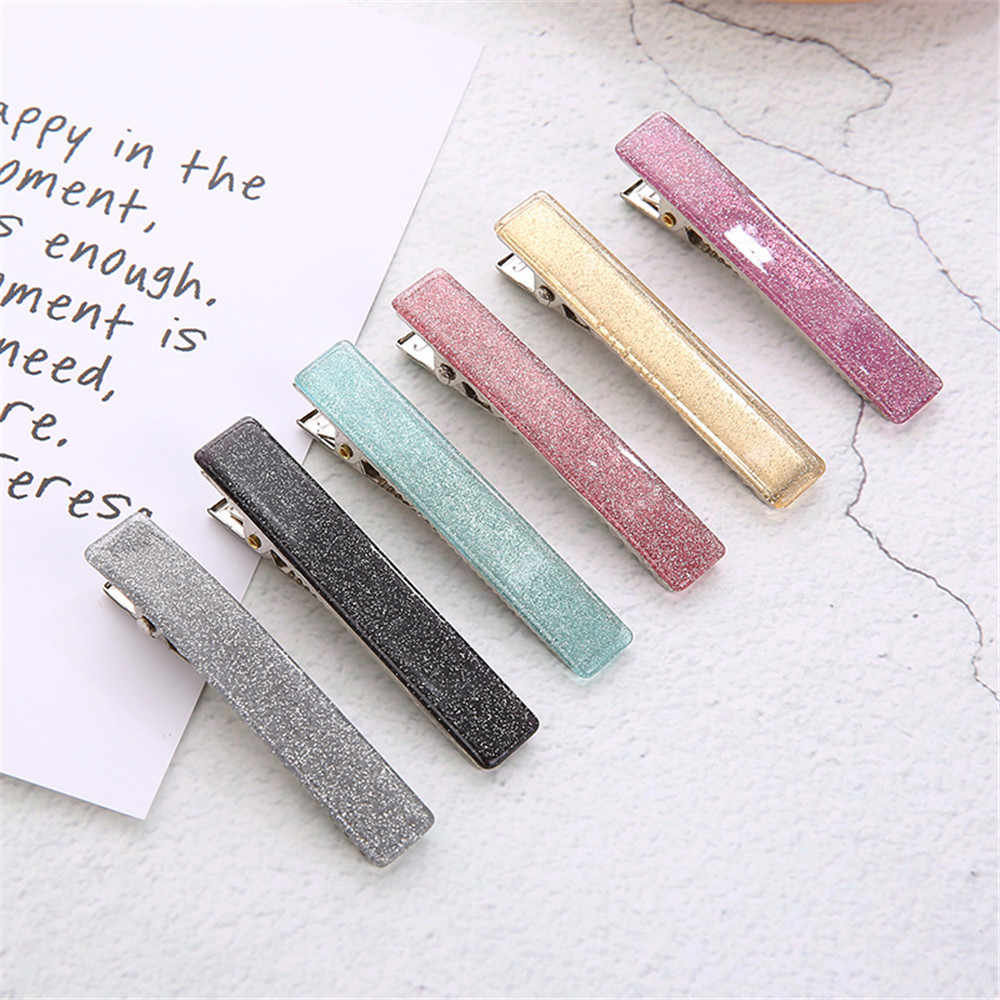 2019 nueva moda mujeres Bling resina acetato pinzas para el cabello Clip geométrico horquilla Clips accesorios para el cabello