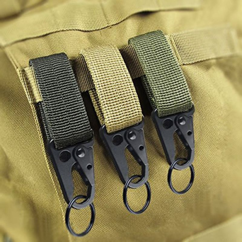 2 pcs Practical Carabiner High Strength Nylon Key Hook Belt Buckle Hanging Keychains On Car