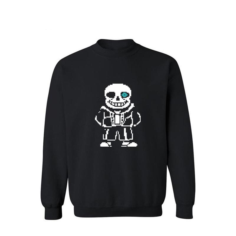 Men's Clothing Cartoon Skeleton Pattern Mens Hoodies And Sweatshirts 2016 Black/gray Streetwear Sweatshirt Men Luxury Xxl 3xl A Complete Range Of Specifications