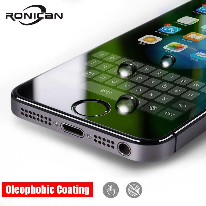 Protección de vidrio templado a prueba de explosiones premium para iphone 5 5S SE Protector de pantalla para iphone 5S SE 5C Película protectora de vidrio