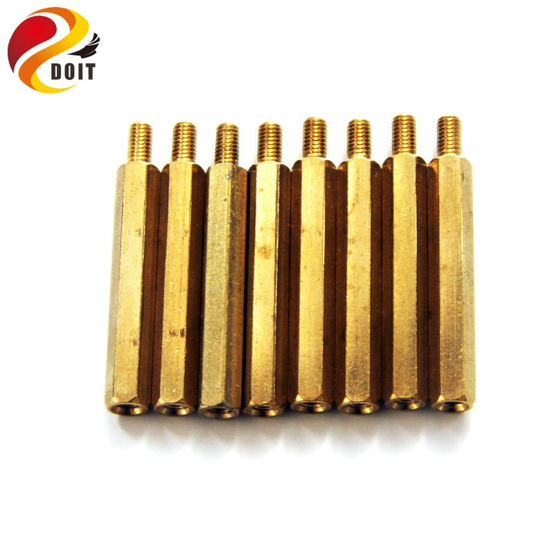DOIT Copper Pillar Cylinder For Smart Car Coupling Connector Connecting DIY RC Toy Support Part Accessory M3*30mm 50mm