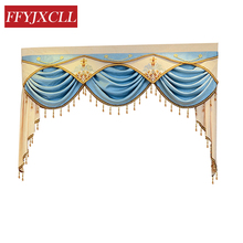 Pelmet Europe Luxury Valance Curtains for Living Room Window Bedroom 1 Piece Custom Made